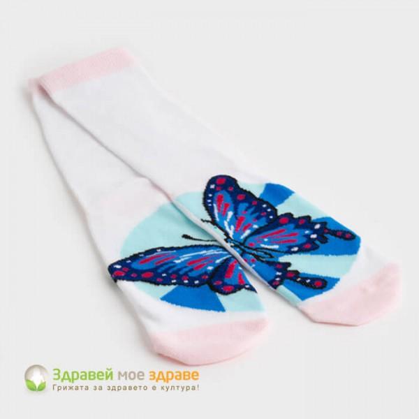 Чорапи с принт пеперуда