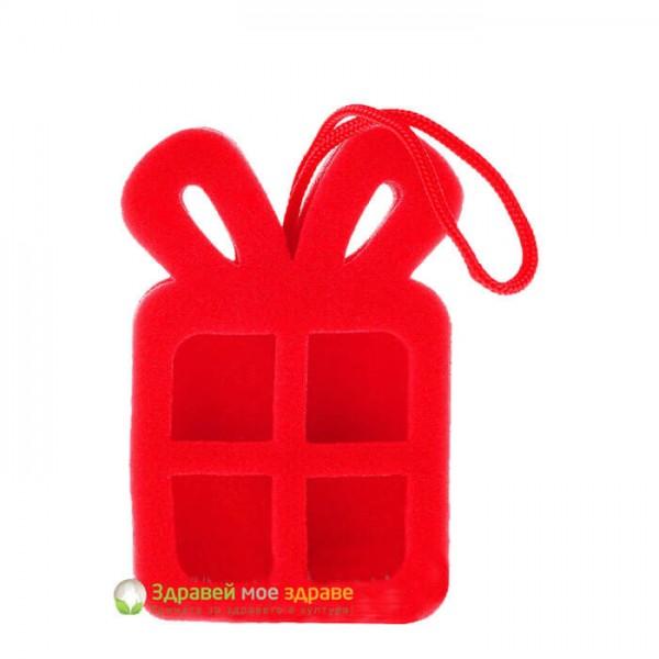 Гъба за баня с форма на подарък