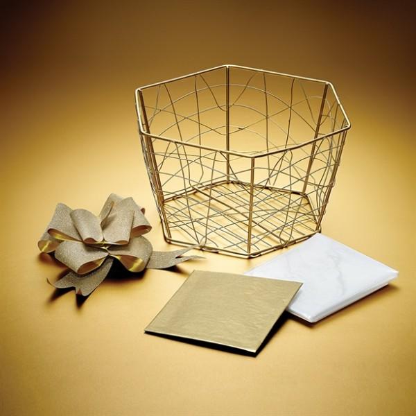 Златиста подаръчна кошница