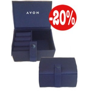 Кутия за бижута синя