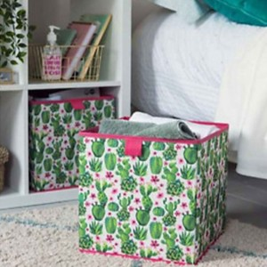 Кутия за съхранение с щампа кактус