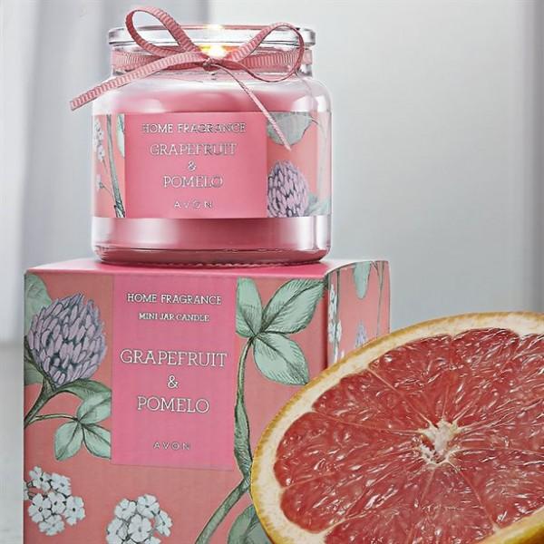 Мини свещ с аромат на грейпфрут и помело