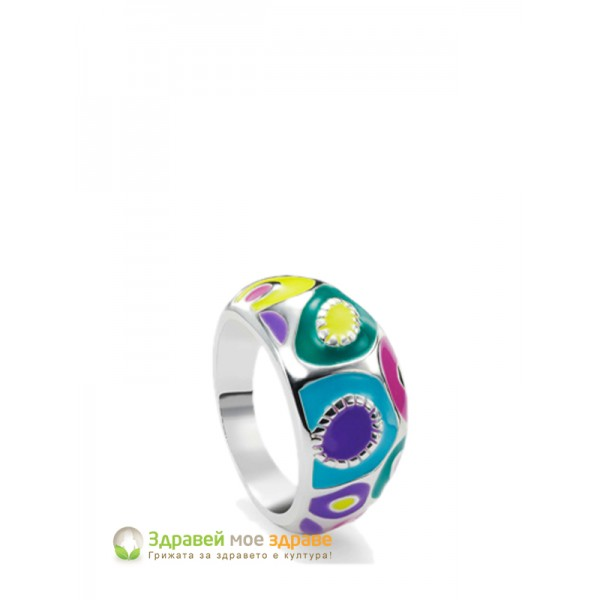 Комплект колие, гривна, пръстен и обеци Color Kick