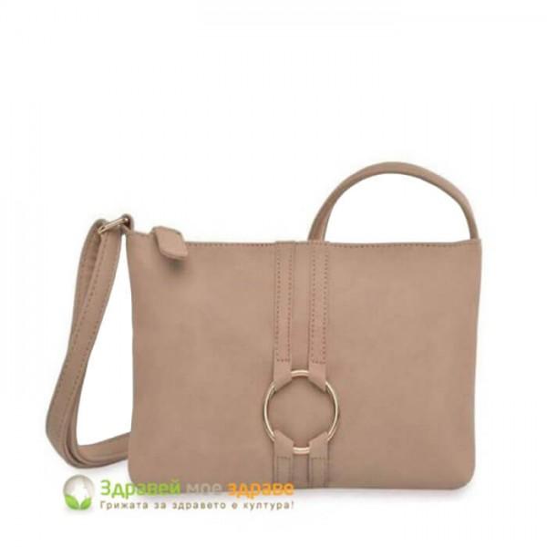 Чанта през рамо Jaylynn - бежаво
