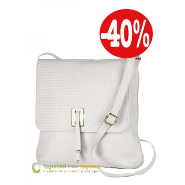 Чанта през рамо Whitney бяла