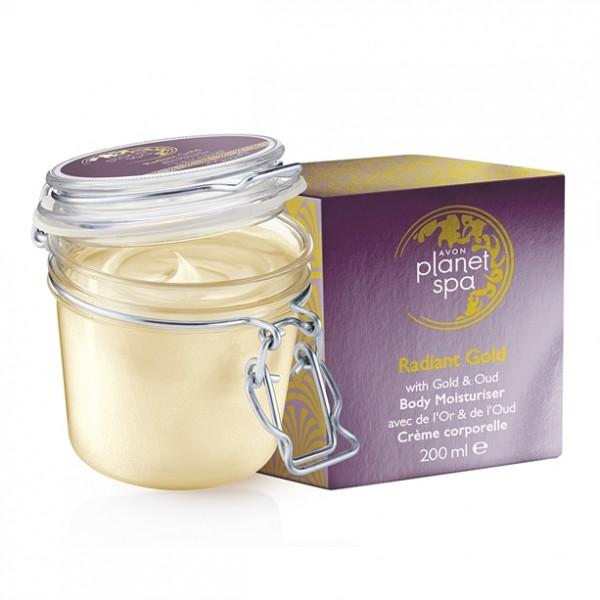 Масло за тяло озаряващо със златни частици и агарово масло