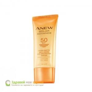 Слънцезащитен крем за лице с антиейдж ефект Anew Solar Advance