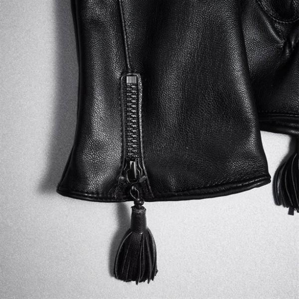 Ръкавици от изкуствена кожа Mila-Daya - Black M
