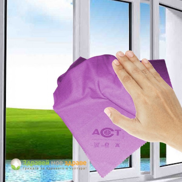 Кърпа за прозорци ACT - лилав�...
