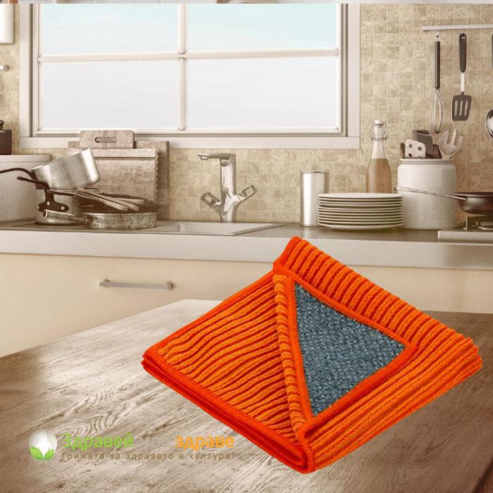 Почистване на кухня с микровлакна