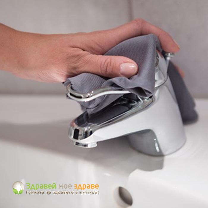 Почистване на баня с микровлакна